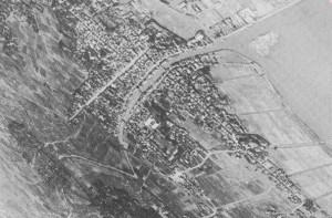 小見川の航空写真(昭和12年)